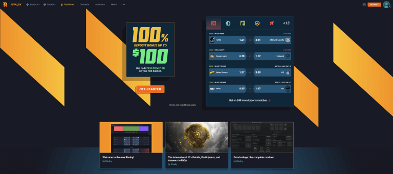 Rivalry Esports Betting Site Review