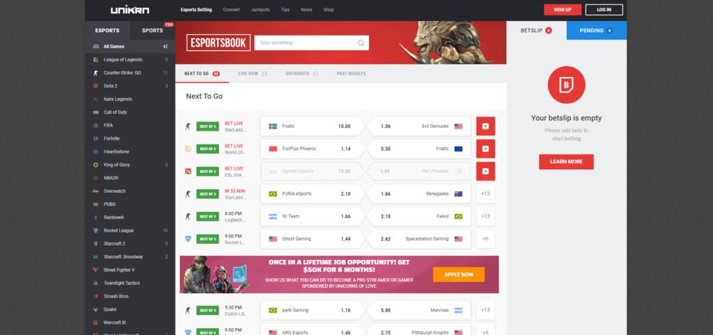 Unikrn Esports Gambling Site Review